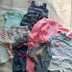 Baby Girl 12 Months Clothing Lot /Bundle